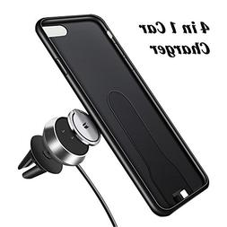 4 in 1 Magnetic Wireless Charger Car Mount Holder with Phone