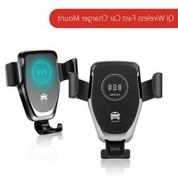 10W Qi Wireless Fast Car Charger Mount Stand For iPhone X Sa