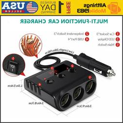 12v 24v 3 sockets 4 usb car