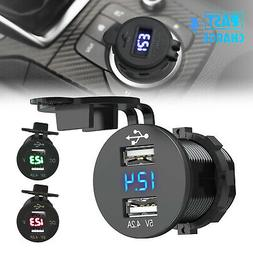 12v dual usb car cigarette lighter socket