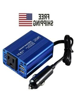 150W Power Inverter DC 12V to 110V AC Converter with 3.1A Du