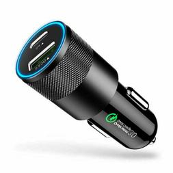 18W PD Type C QC 3.0 Fast Car Charger Adapter USB Charging F