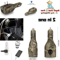2 In 1 Dual USB Car Charger And Wall AC Charger Camouflage F