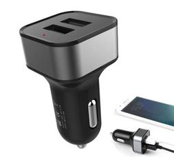 2-Port Dual USB 5V 2A Car Charger Adapter Fast Charging for