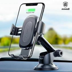 Baseus 3 Qi Wireless Car Charger Suction Cup Holder for iPho