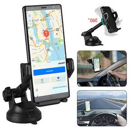 360° Car Mount Qi Wireless Fast Charging Charger Holder For