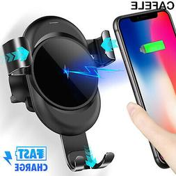 Qi Auto Wireless Car Charger Fast Charging Mount Clamping Ai