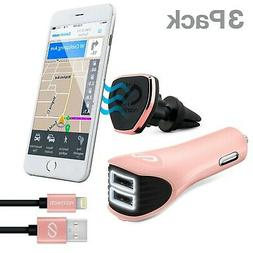 Naztech Safety Essential Cell Phone Car Kit -MFi Cable/Magbu