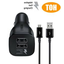 OEM Dual USB Adaptive Fast Rapid Car Charger Cable Fr Samsun