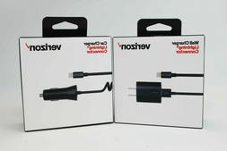 Verizon OEM Car Home Wall Charger Lightning USB Cable For iP