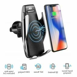 Automatic Clamping Qi Wireless Car Charging Charger Mount Ai