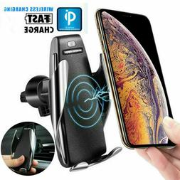 Smart Sensor Auto Clamping Car Mount & Wireless Charger For
