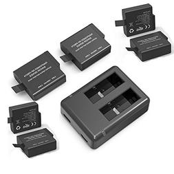 RAVPower Camera Battery Charger Set for GoPro hero 5 batteri