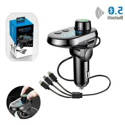 Bluetooth FM Transmitter Wireless AUX MP3 Car Charger For iP