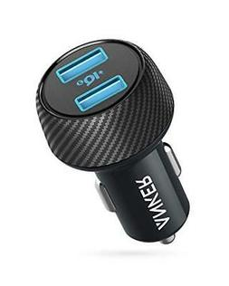 Car Charger, 30W 12V Dual USB Car Adapter PowerDrive Speed 2