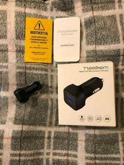 Car Charger Maxboost 4 8A/24W 2 Smart Port Car Charger Black