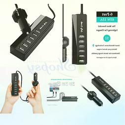 Car Charger, Jelly Comb 65W/13A 6 Ports Rapid USB Multi-Port
