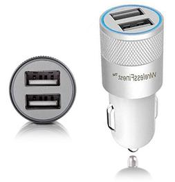 Car Charger, WirelessFinestTM, Dual Port 3.1A USB Car Charge