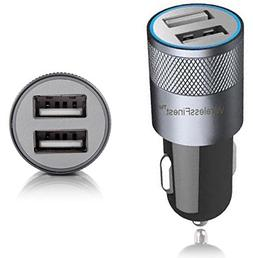 Car Charger,WirelessFinest,Dual Port 3.1A USB Adapter for Ap
