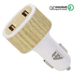 ANHONG 36W Car Charger Dual Quick Charge 3.0 USB Ports for i