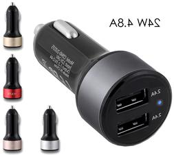 For Apple Lightning Cable Car Charger 2 port 2.4 Amp for Sam