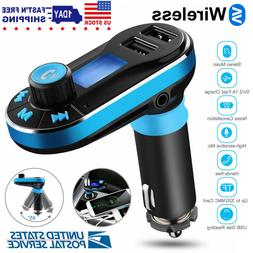 Car Kit Bluetooth MP3 Player FM Transmitter Wireless Radio A