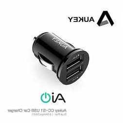 AUKEY CC-S1 4.8A Dual Port USB Car Charger 2.4A x 2 Output 5
