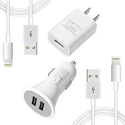 YouCoulee Compatible iPhones Charger,Car Charger Cable kit w