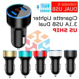Dual USB 3.1A Car Charger Adapter 3.0 Fast Charging For iPho