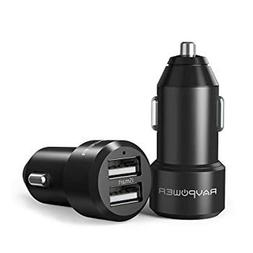 RAVPower Dual-USB Car Charger 24W 4.8A Metal Dual Adapter iS