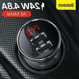 Baseus Dual USB Car Charger 4.8A Fast Charging Power Adapter
