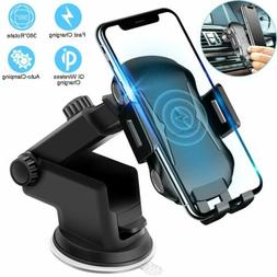 Fast Automatic Clamping Wireless Charging Charger Car Mount