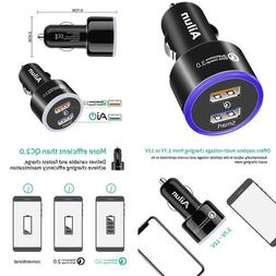 Ailun Fast Car Charger,Qualcomm Quick Charge 3.0 Adapter,Dua