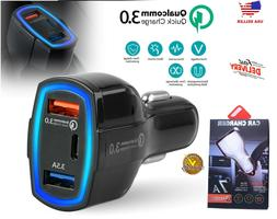 fast quick car charger usb with type