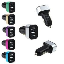 FAST Rapid Car Charger DC 12V 24V 3 Ports USB For Android iP