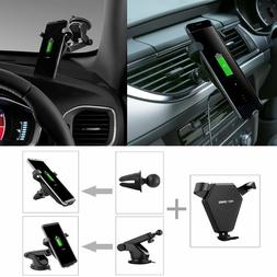 Fast Wireless Car Charger Car Air Vent Dashboard Holder Moun