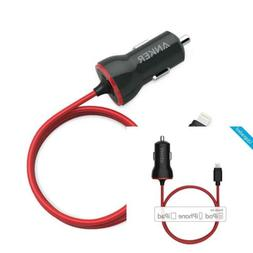 iPhone Car Charger, Anker 12W/5V Lightning Car Charger Combo