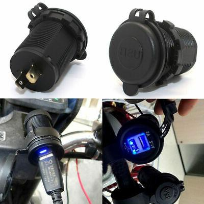 12V Cigarette Socket Splitter USB Charger Power Adapter