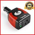 BESTEK 150W Watt Inverter Car DC 12V to AC 110V 2 USB Charge