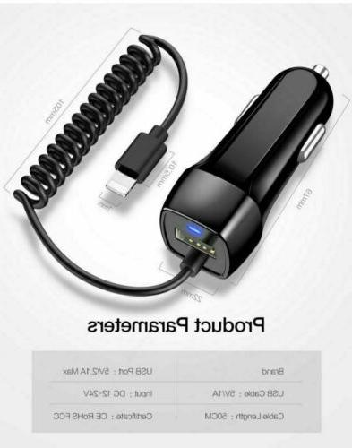 2.1A Car Charger For iPhone Max X XS XR 6