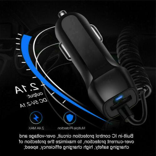 2.1A IN Car Charger For iPhone Max XS 6 8 Fast Charging