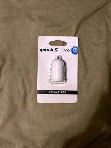 2 4 amp car charger nib new