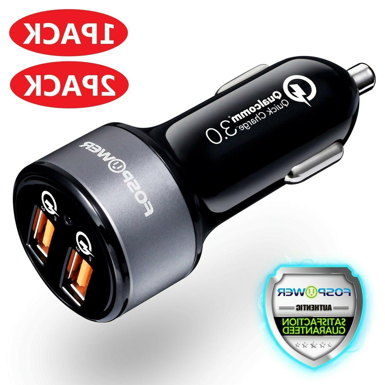 Dual Port USB Fast Car Charger 36W Qualcomm Quick Charge QC