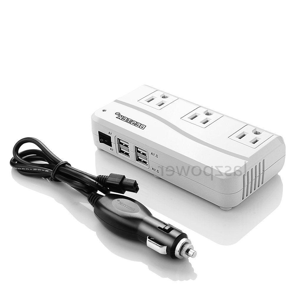 BESTEK 200W/500 Watts DC to AC Car Power Inverter Charger 4