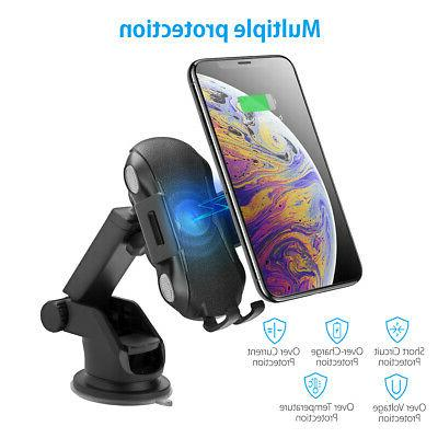 Qi Auto Wireless Charger Charging Clamping Air Vent Holder