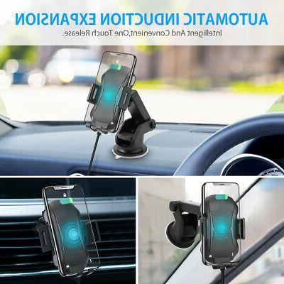 Qi Auto Charger Fast Clamping Air Holder