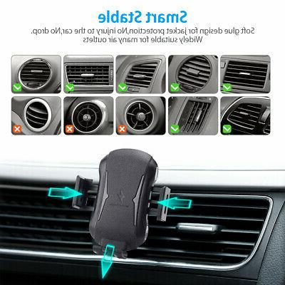 Qi Auto Wireless Charger Fast Mount Clamping Air Holder