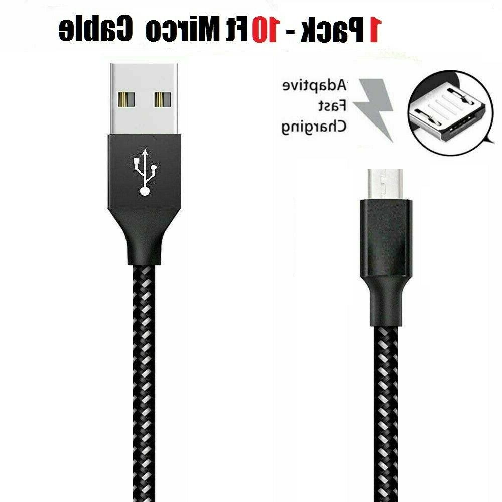 3/6/10Ft Micro USB Charger Data Cord For Samsung HTC Android