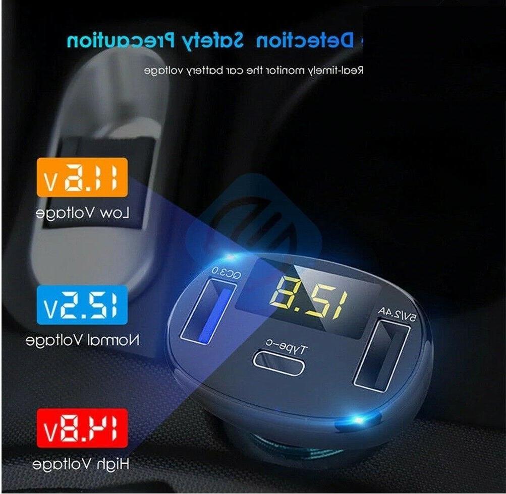 3-Port USB Fast Rapid Car Type C Android