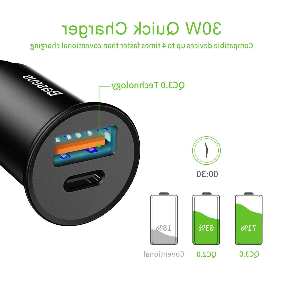 30W Charger USB Quick 4.0 +